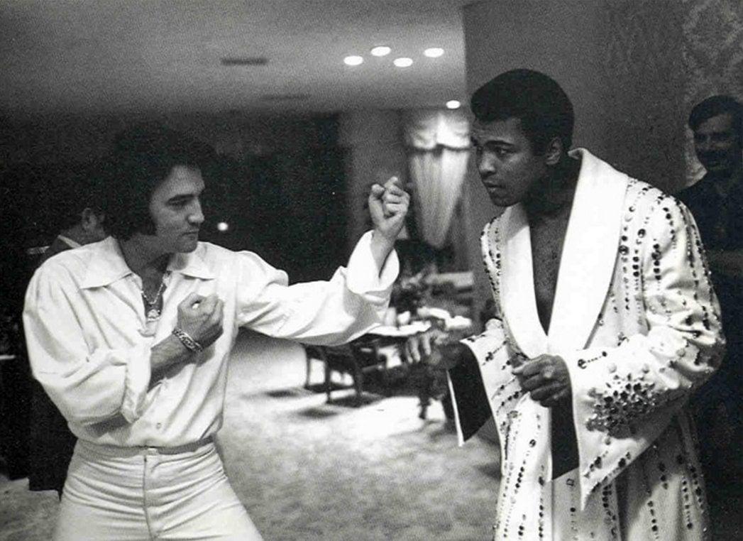 Elvis and Muhammad Ali