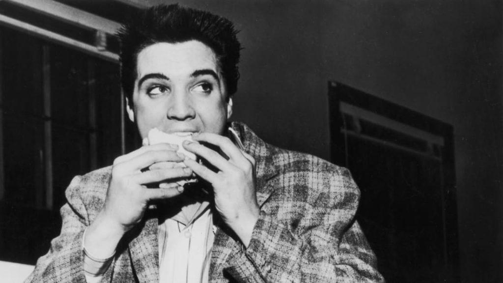 Elvis Eating a Burger