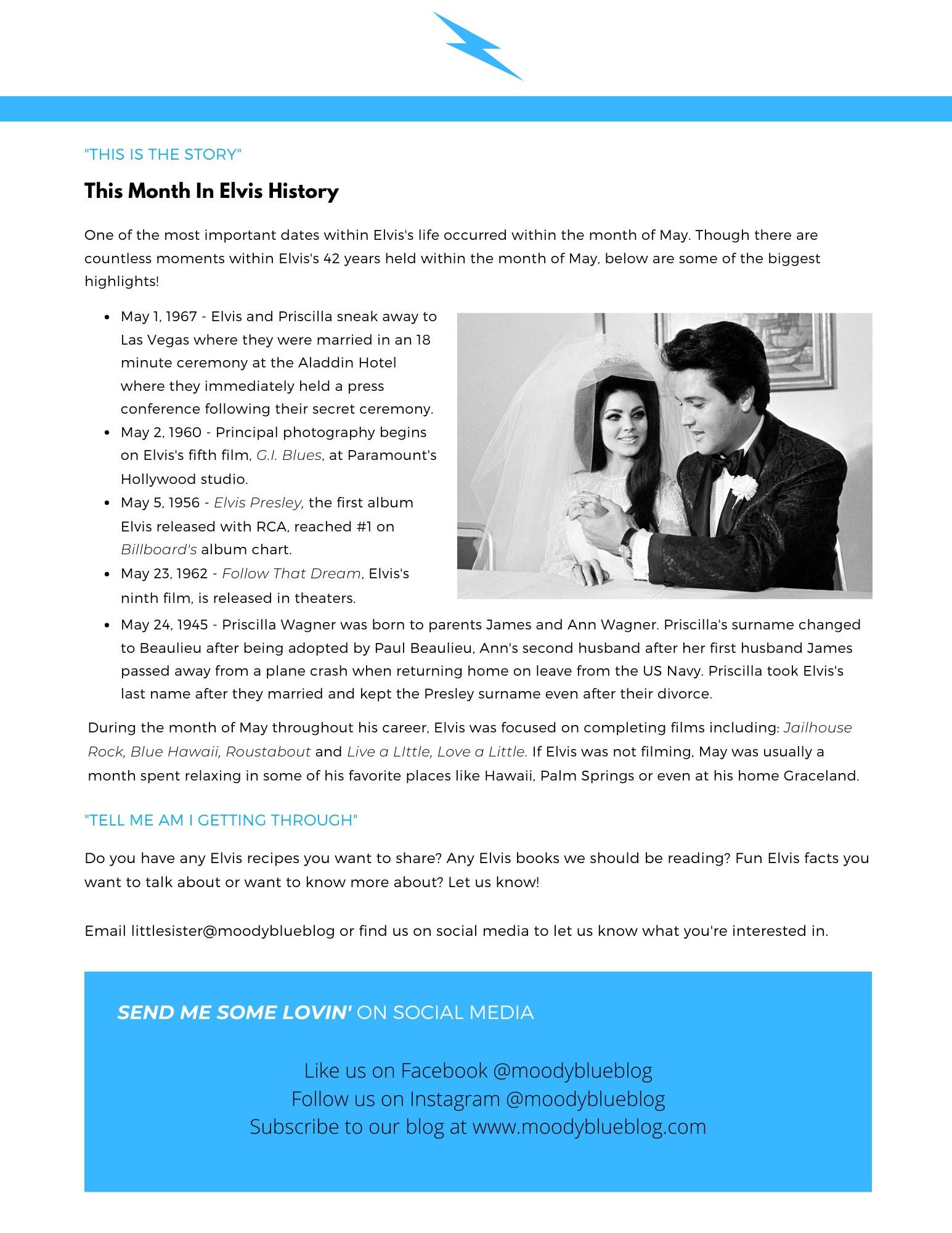 This Month in Elvis History (May)