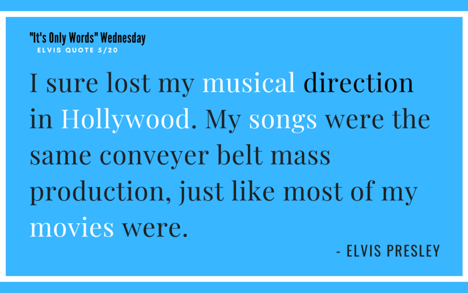 I sure Lost my musical direction in hollywood