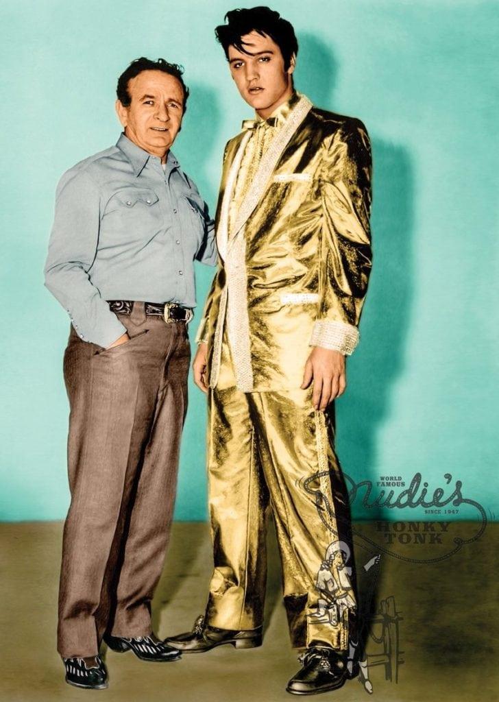 Elvis and Nudie - Gold Lame