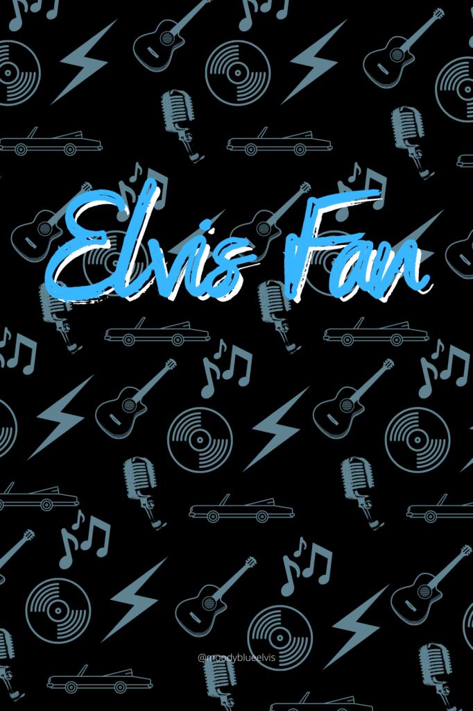 Blank Elvis Journal in Black and Blue 6x9